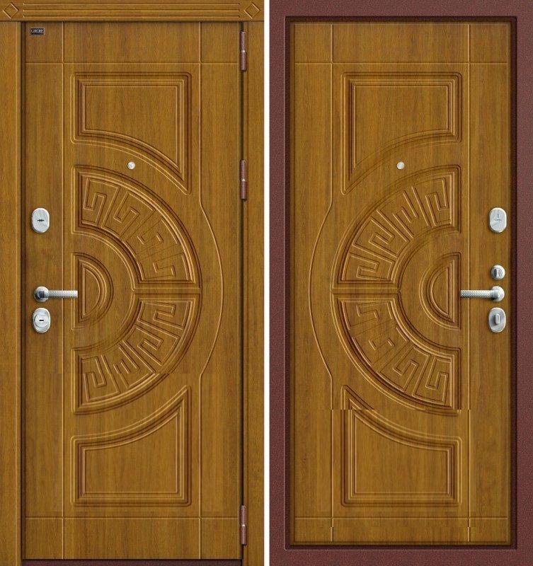 двери металлические золотого цвета