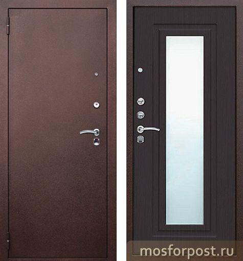 двери металлические венге зеркало