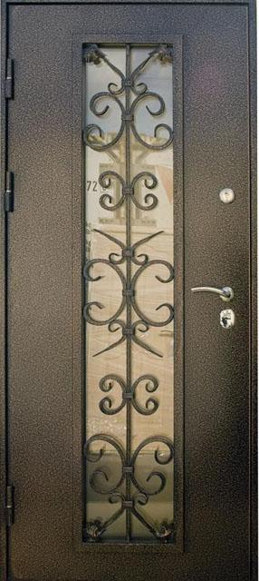 металлические двери сталь дизайн со стеклом