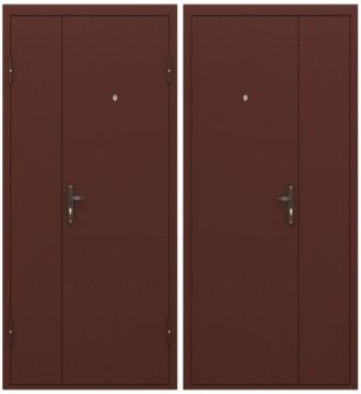 Двухстворчатая дверь Эконом STEEL